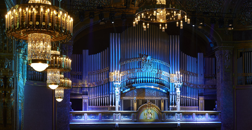 The renovated organ of the Liszt Academy